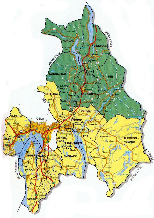 akershus fylke kart Kart Akershus fylke akershus fylke kart